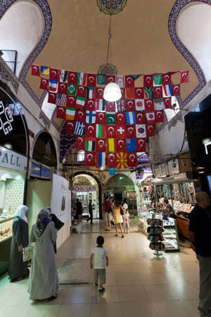 September 5, 2011 - Inside the Grand Bazaar in Istanbul. The grand bazaar began construction in 1455 and opened in 1461. It is well known for its jewelry, pottery, spice, and carpet shops. September 5, 2011, Istanbul. Turkey.