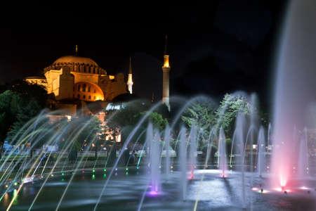 Hagia Sophia church in evening light, Istanbul, Turkey. photo