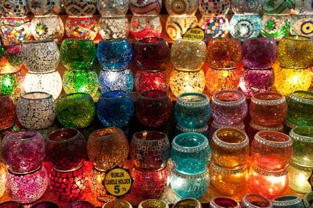lamp shade: Many things are selling in Grand Bazaar (Grand Market) such as lamps or laterns, Istanbul, Turkey.