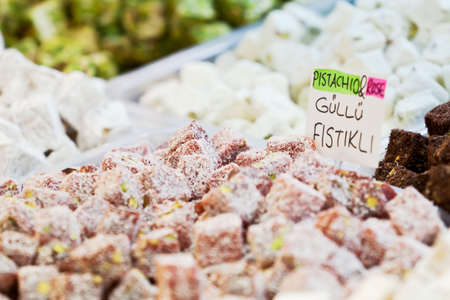 Turkish delight at Spice Bazaar. photo