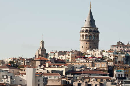 Istanbul city panorama with famous Galata tower. photo