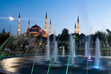 The Blue Mosque (Sultan Ahmet Camii Mosque) in the Sultanahmet area of Istanbul in Turkey. Built between 1609 and 1616 by Mehmet Aga the imperial architect. photo