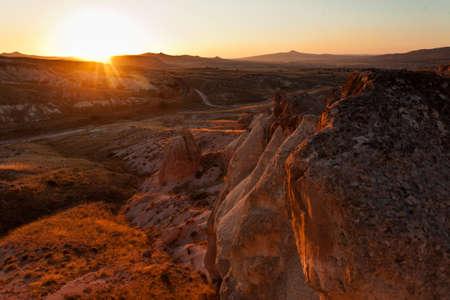 Strange stone formations, Cappadocia, Turkey photo