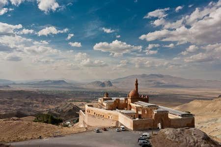 Ishak Pasha Palace v blízkosti Dogubayazit, Turecko Reklamní fotografie - 16019603