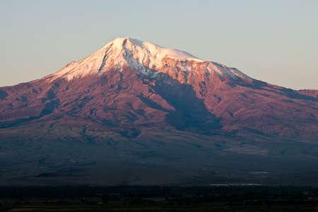 Ararat mountain during dramatic sunrise, symbol of Armenia  Stock Photo - 16366508