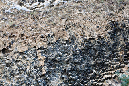 bazalt: Beautiful basalt rocks called Symphony of Stones. Armenia.