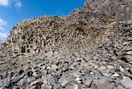 bazalt: Beautiful basalt rocks called Symphony of Stones. Armenia.