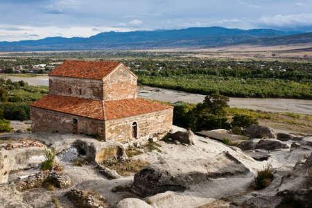 Staré jeskyně město Uplistsikhe v kavkazském regionu, Georgia. Reklamní fotografie
