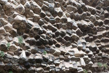 bazalt: Beautiful basalt rocks called Symphony of Stones  Armenia  Stock Photo
