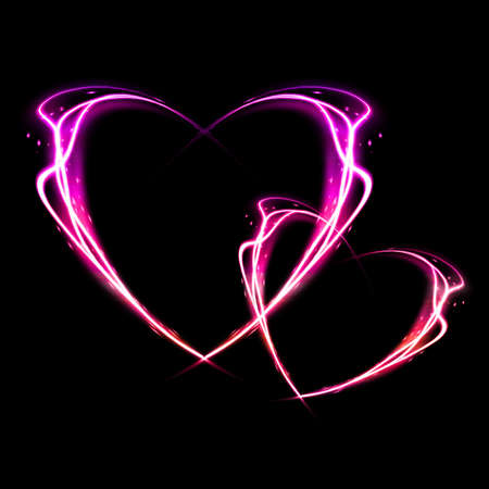 Heart from fire for valentines day. Stock Photo - 17109418