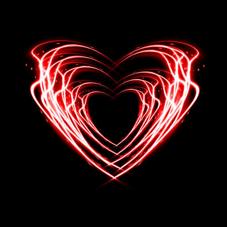Heart from fire for valentines day. Stock Photo - 17109419
