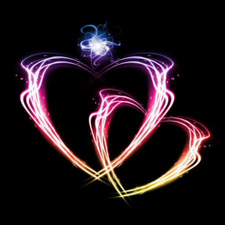 Heart from fire for valentines day. Stock Photo - 17109417
