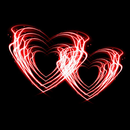 Heart from fire for valentines day  Stock Photo - 17167723