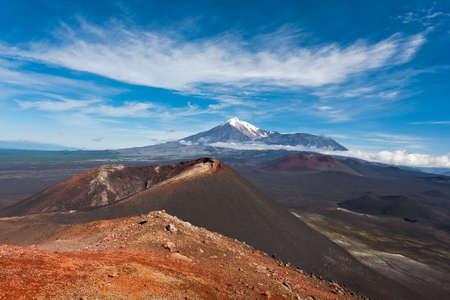 kamchatka: Volcano Tolbachik on Kamchatka, Russia Stock Photo