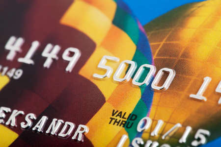 Macro shot of credit card, business concept. Reklamní fotografie