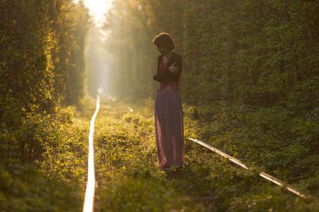 Hezká holka baví v přirozeném tunelu lásky na Ukrajině, Klevan