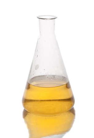 Věda zařízení v laboratoři na bílém.