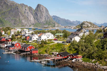 View on Lofoten islands at summer, Norway.