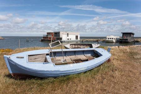 esbjerg: Fishing boat on the beach, Jutland, Denmark