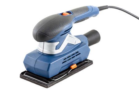 sander: Electrical sander on white background