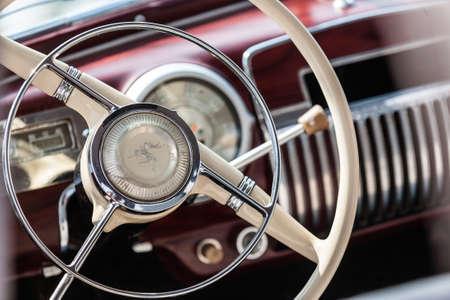 Interior of a classic vintage car