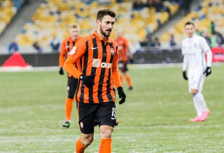 olimpiyskiy: Kiev, Ukraine - December 12, 2016: Facundo Ferreyra of Shakhtar Donetsk in action during Ukrainian Premier League match against FC Dynamo Kyiv at NSC Olimpiyskiy stadium.