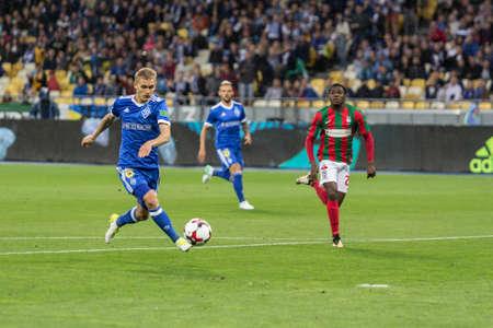 Kyiv, Ukraine - August 24, 2017: Vitaliy Buyalskiy of Dynamo Kyiv in action against Maritimo during UEFA Europa League match at NSC Olimpiyskiy stadium.