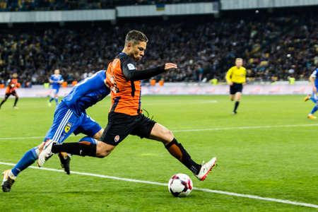 Kyiv, Ukraine - October 22, 2017: Marlos controls the ball. Ukrainian Premier League match Dynamo Kyiv – Shakhtar Donetsk at NSC Olimpiyskiy stadium. Redakční