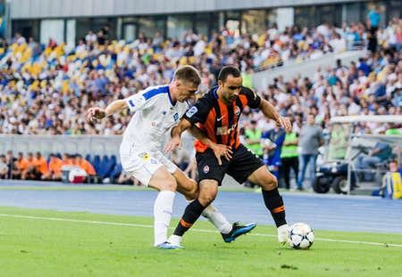 Kyiv, Ukraine - August 03, 2018: Ismaili controls the ball. Ukrainian Premier League match Dynamo Kyiv – Shakhtar Donetsk at Dynamo Kyiv stadium.