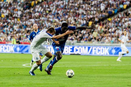 Kyiv, Ukraine - August 14, 2018: Artem Besedin in action during UEFA Champions League match Dynamo Kyiv – Slavia Prague at NSC Olympic stadium in Kyiv, Ukraine. Redakční