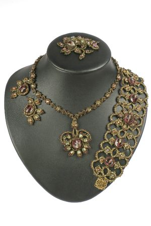 frippery: braided embellishment from beads with russian pattern.