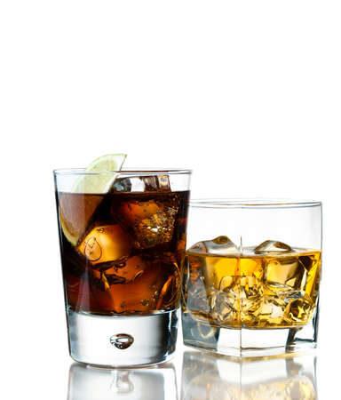 whiskey o the rocks and cola
