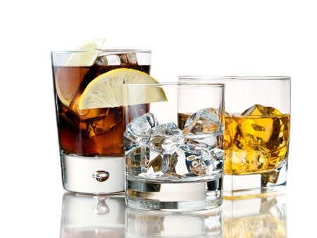 variety of refreshing and alcoholic cocktails Stock Photo