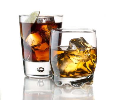 Whisky von den Felsen und Cola Standard-Bild - 13941835