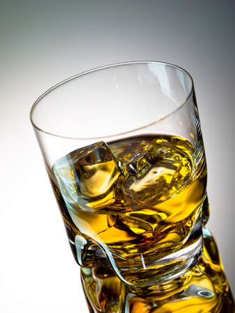 scotch whisky: One glass of whiskey on the rocks