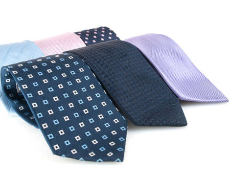 Variety of multicolored formal ties photo
