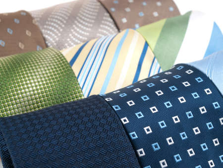 polyester: Variety of multicolored formal ties