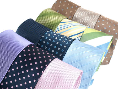 menswear: Variety of multicolored formal ties