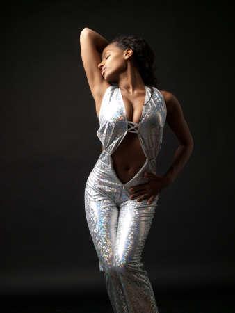 Sexy gogo dancer striking a pose