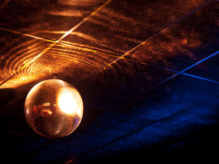 mirrored: Mirror ball under the ceiling of a night club