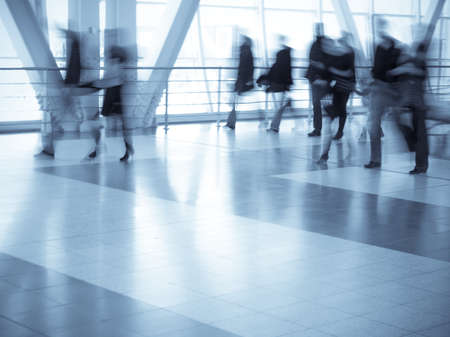 Shopping center, motion blur