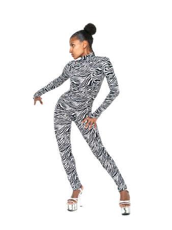 African dancer striking a pose