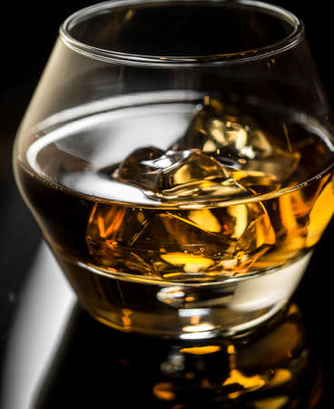 Whisky on the rocks Stock Photo
