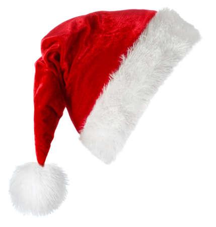 サンタ クロースの赤い帽子白い背景に分離