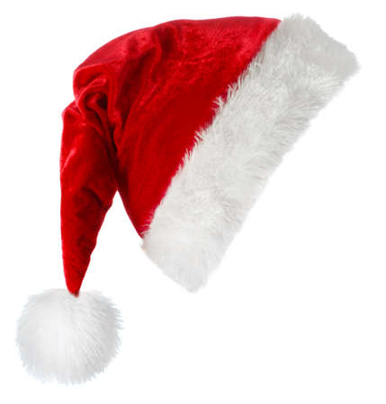 Santa Claus red hat isolated on white background Фото со стока