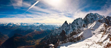 alpinism: Mont Blanc, Courmayeur, Italy