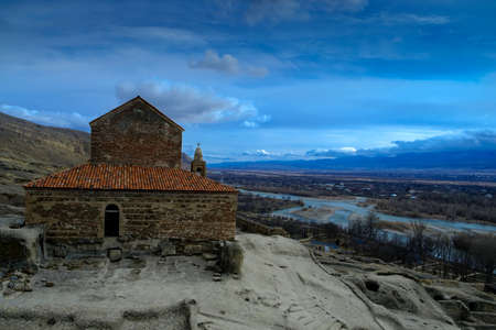 Christian Basilica in ancient rock-hewn town called Uplistsikhe