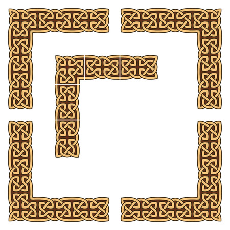 keltische muster: Enth�lt Elemente, die f�r die Gr��en�nderung leicht wiederholt werden k�nnen.  Illustration