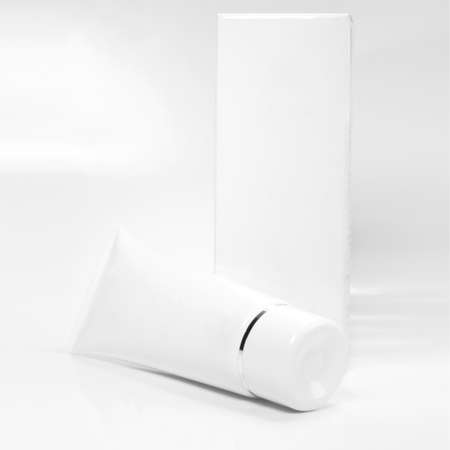 aftershave: Tube packaging without labels on a white background