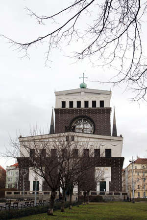 The Church of the Most Sacred Heart of Our Lord is Roman Catholic church at Jiriho z Podebrad square in Prague